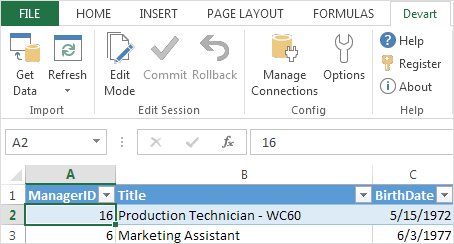 Devart Excel Add-ins