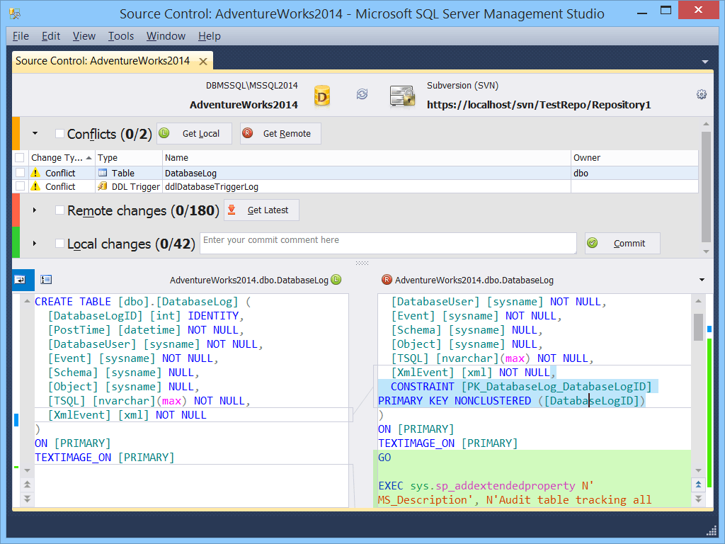 dbForge Source Control for SQL Server