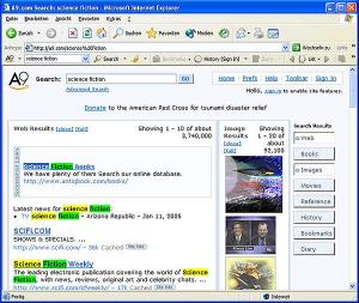 A9 Amazon Toolbar für Internet Explorer