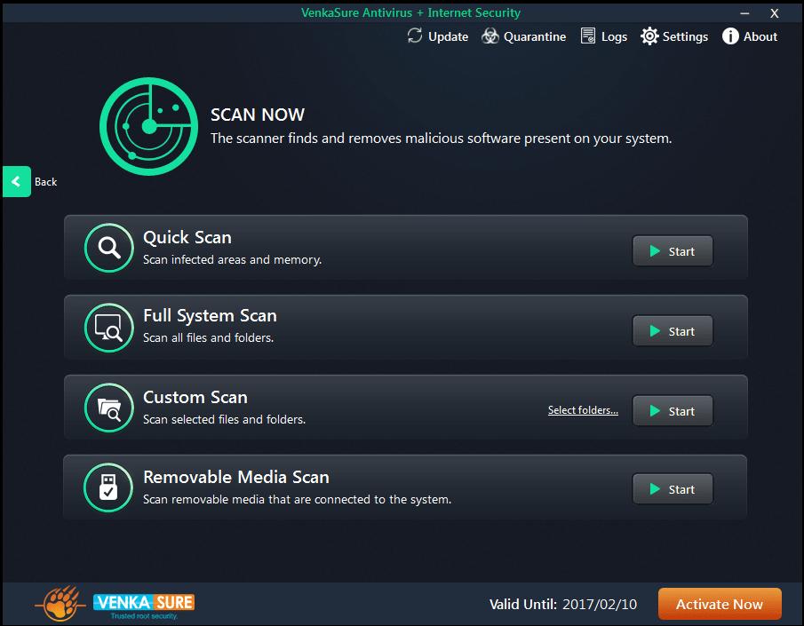 VenkaSure Antivirus + Internet Security