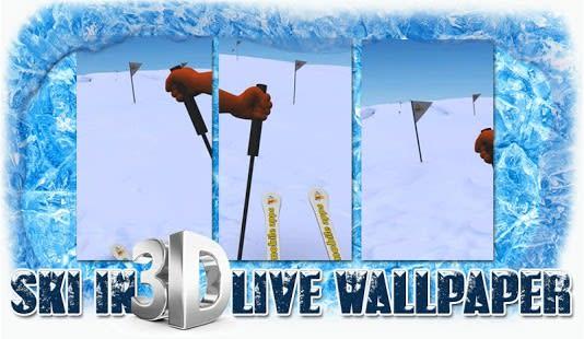 Nieve SKI en 3D Live Wallpaper