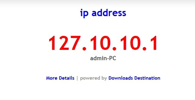 PHP Script to get ip address