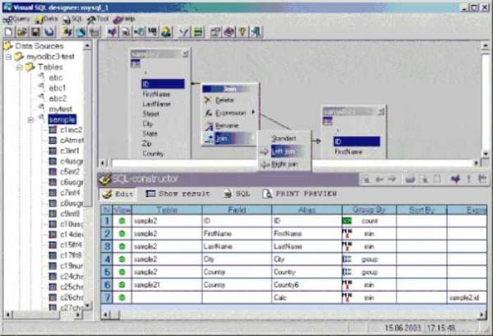 Visual SQL-Designer