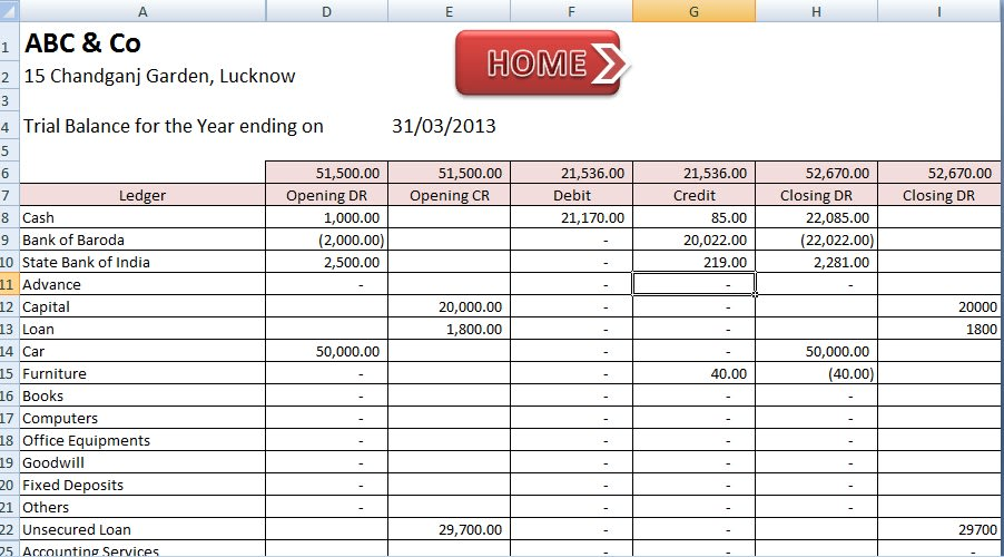 Excel Chart Of Accounts Template