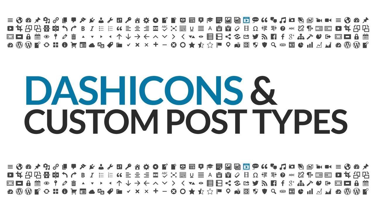 Dashicons - Icons for Wordpress