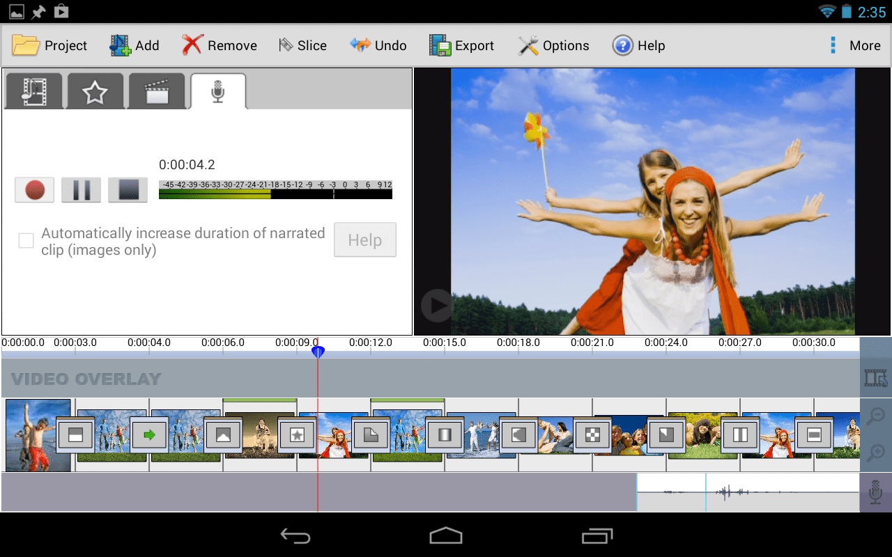 VideoPad Free Video Editor for Android