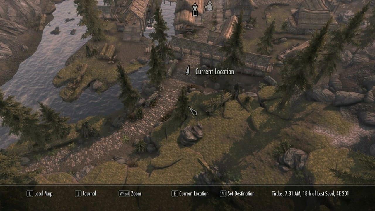 Mapa Skyrim 3D