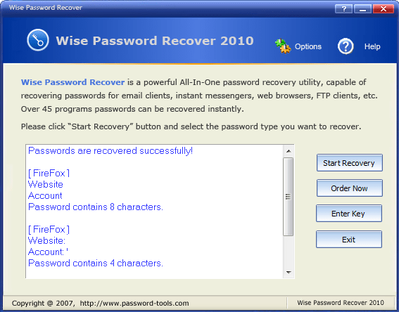 Wise Password Recover