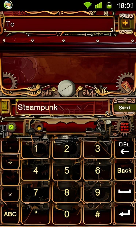Steampunk GO Keyboard Theme