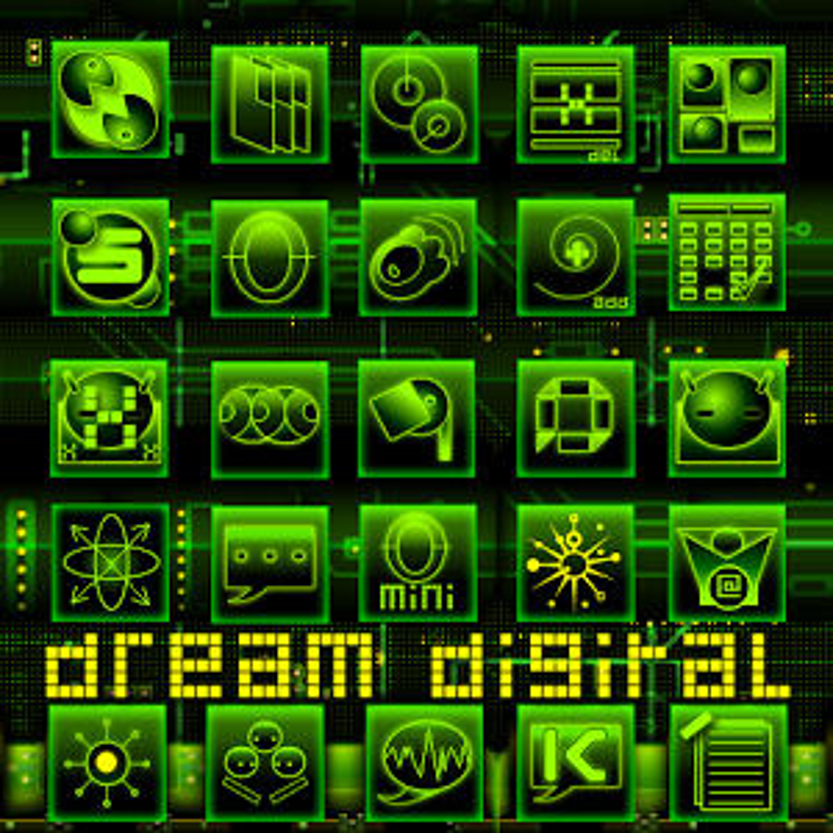 Dream Digital GoLauncher Theme