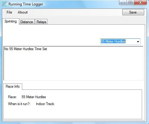 Running Time Logger