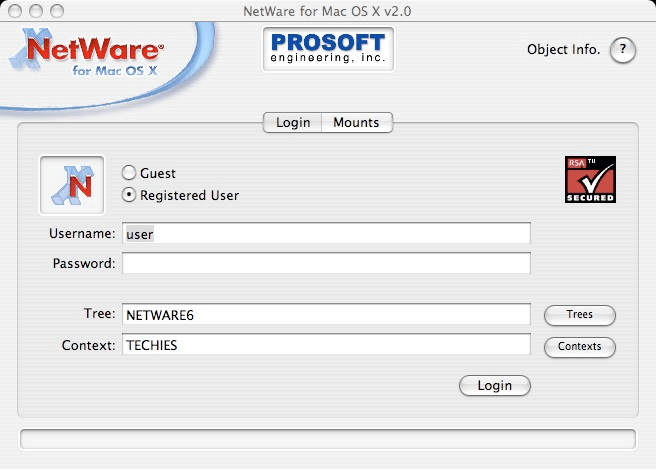 NetWare Client for Mac OS X - IP Edition