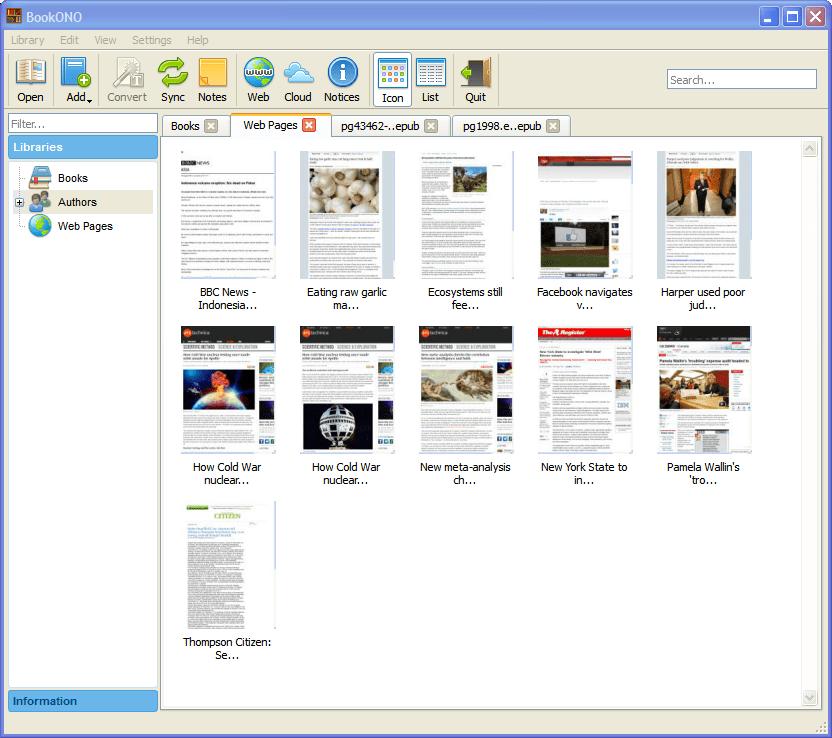 BookONO eBook Manager, Viewer, Convertor