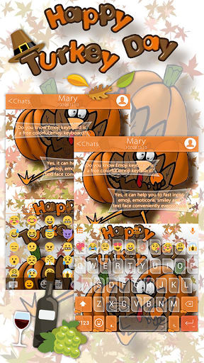 Thanksgiving Emoji Keyboard