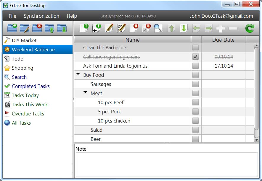 GTask for Desktop