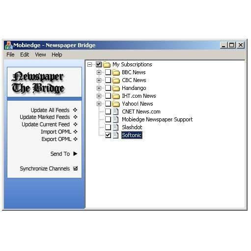 Mobiedge Newspaper: Wireless/Wired RSS Reader