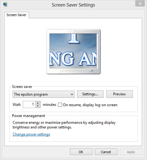 The Epsilon Program Screensaver