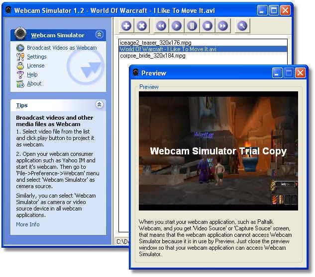 Webcam Simulator