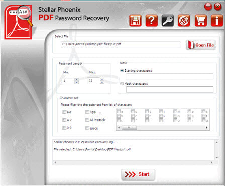 Stellar Phoenix PDF Password Recovery