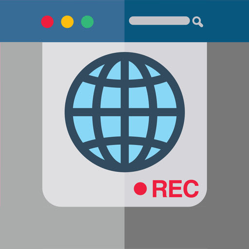 Recorder for screen of the browser session in app