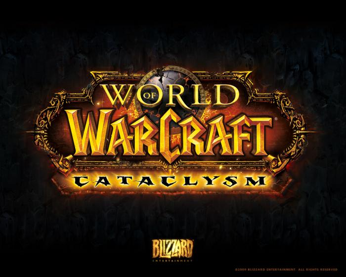 World of Warcraft Cataclysm Logo Wallpaper