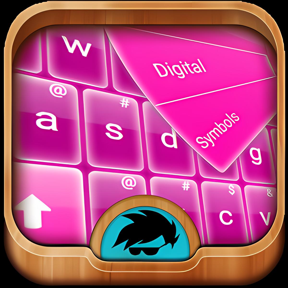 GO teclado Glow rosa