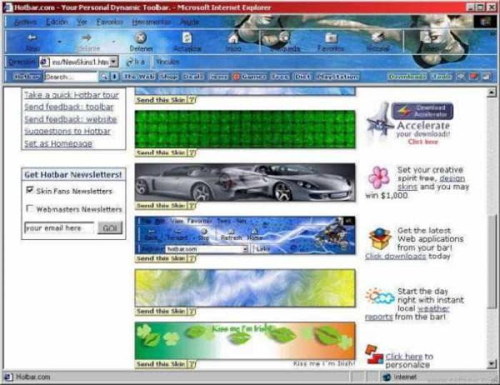 Hotbar for Internet Explorer