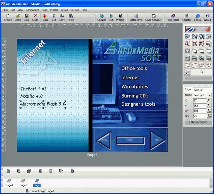 ArtixMedia Menu Studio