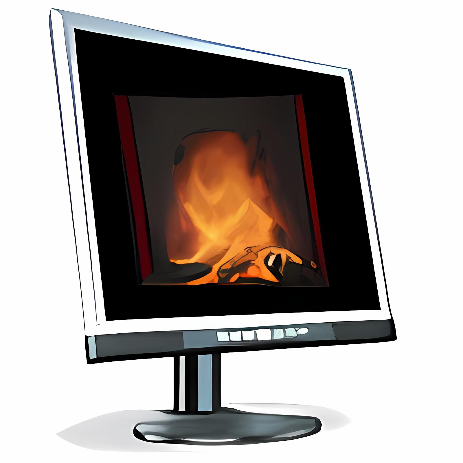 3D Fireplace Screensaver