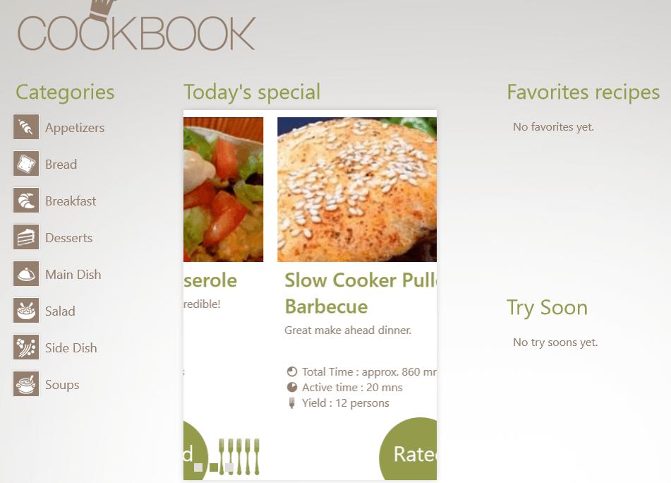 CookBook voor Windows 10