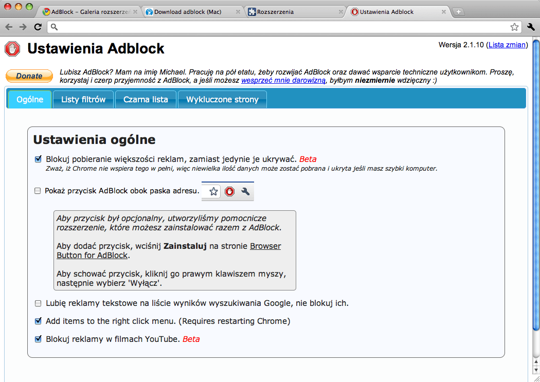 Adblock na Mac - Download