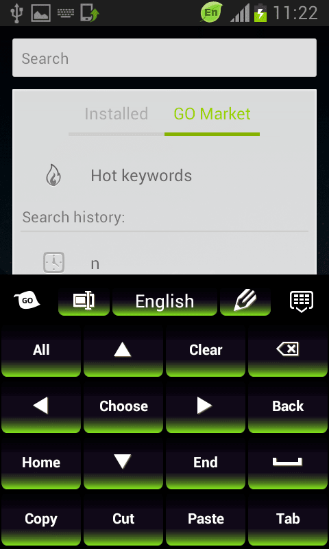 Green Keypad for Android