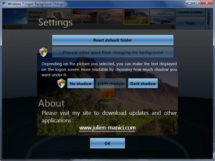 Windows 7 logon background changer windows download - Windows 7 wallpaper changer software ...