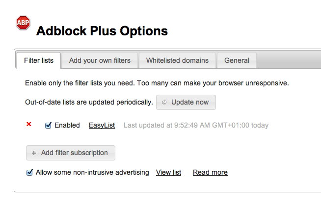 Adblock Plus for Safari