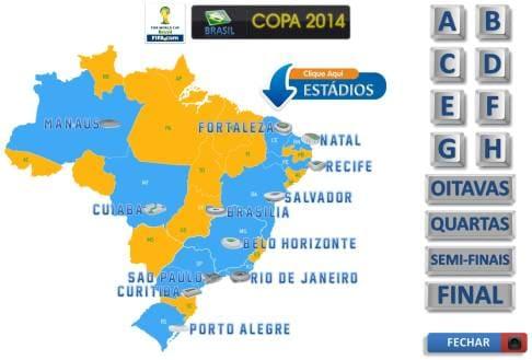 Guia e Tabela da Copa 2014