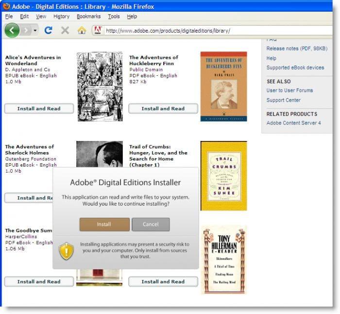 adobe digital editions 2.0 téléchargement gratuit