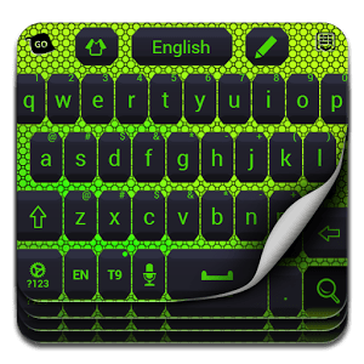 Color verde de neón Keyboard