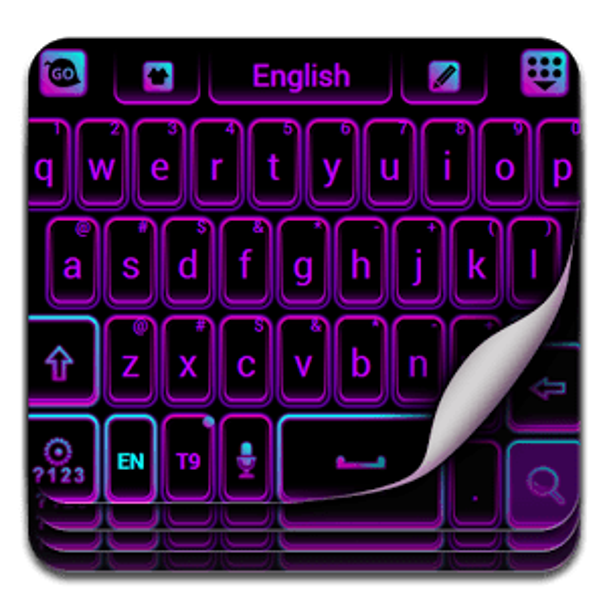 Color de teclado Neon Purple