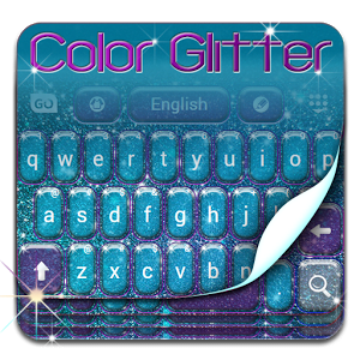 Keyboard Color Glitter Theme