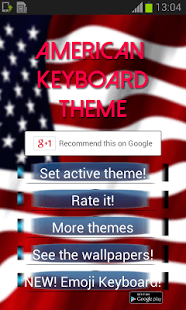 El tema del teclado americano