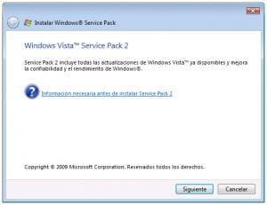 Service Pack 2 dla Windows Vista