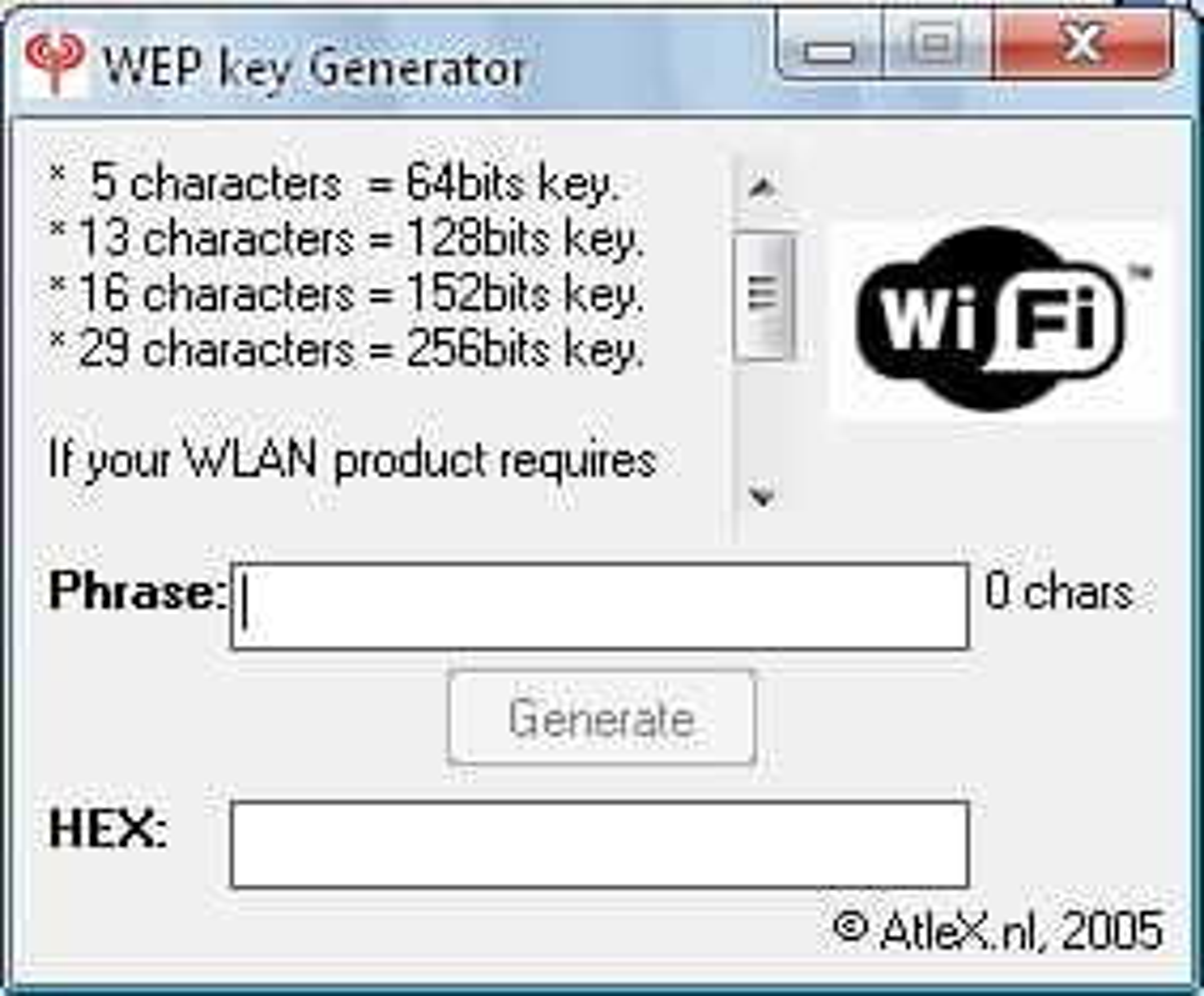 WEP key Generator