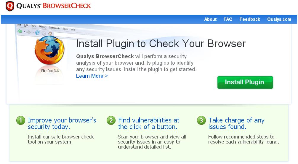 Qualys BrowserCheck