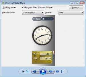 Windows Sidebar Styler