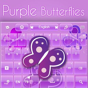 Purple Keyboard Chica Tema