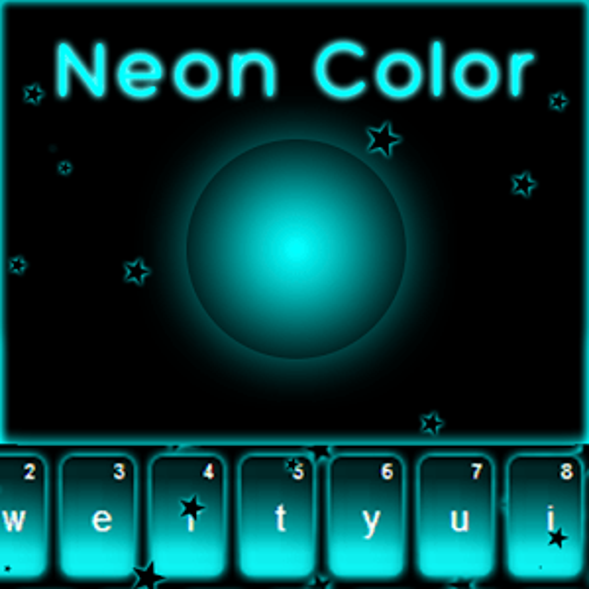 Azul de neón Keyboard