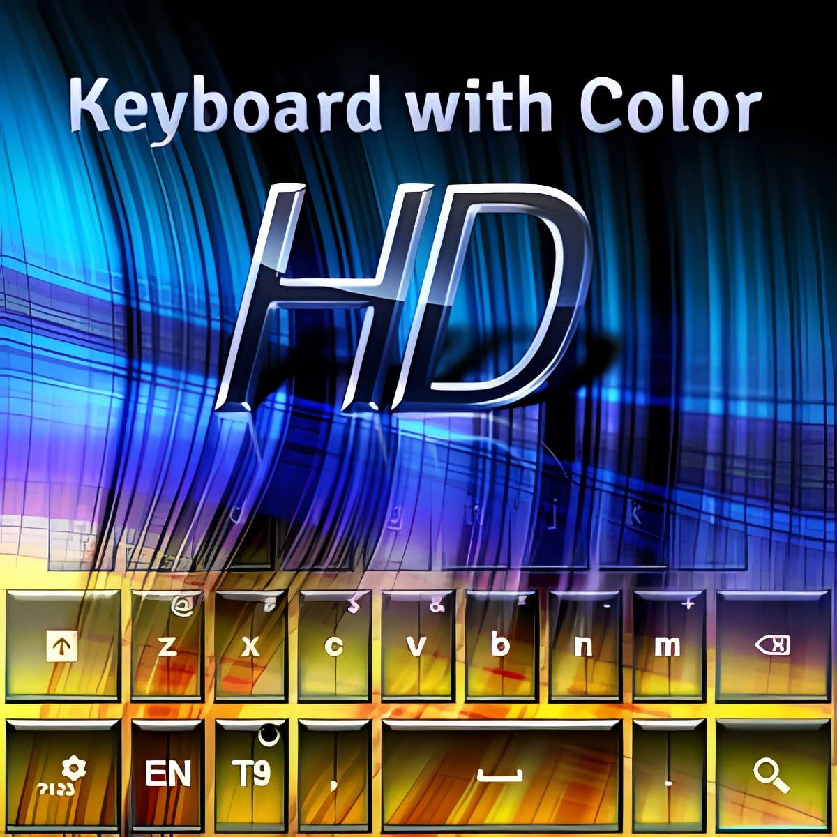 Teclado color alta definición
