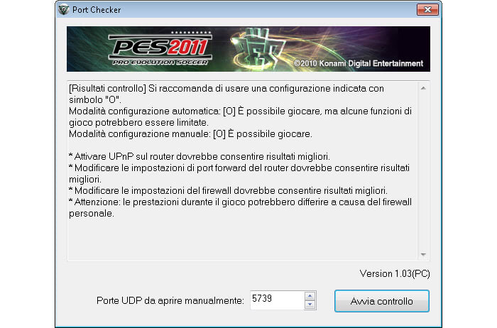 PES 2011 Port Checker
