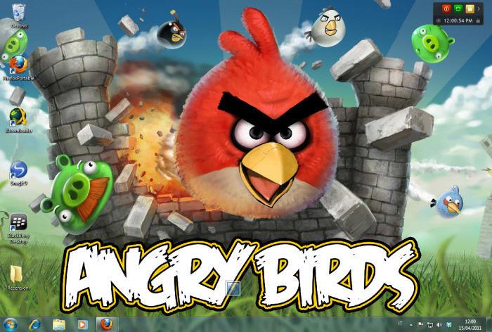Tapeta Angry Birds Castle