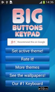 Grandes botones del teclado
